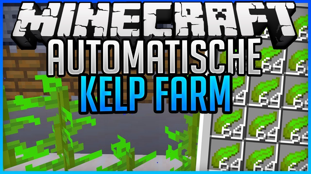 Automatic Kelp Farm Easy Fast Tutorial Minecraft Map