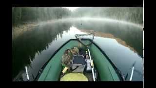 Проверяем жерлицы... Саяно-Шушенское водохранилище.