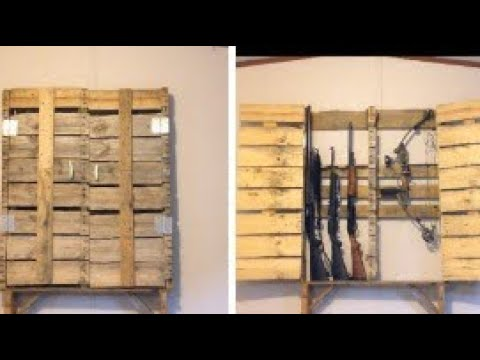 How To Build A Gun Cabinet Out Of A Feed Pallet