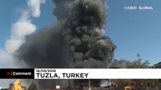 Турция: пожар на химзаводе под Стамбулом
