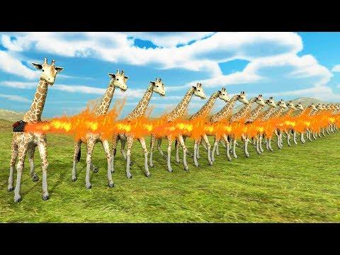 FLAMETHROWER GIRAFFE BATTLE! - Beast Battle Simulator
