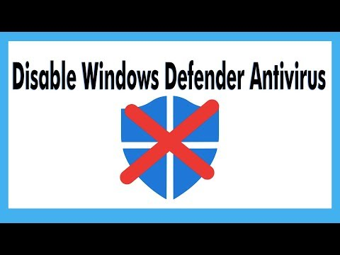 Disable Windows Defender Antivirus On Windows 10