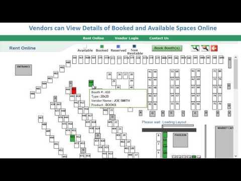 Web Rental module in use at Colorado Springs Flea Market