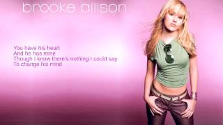 Watch Brooke Allison If I Were You video