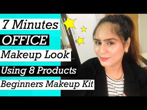 7 minutes everyday natural office makeup look  using 8