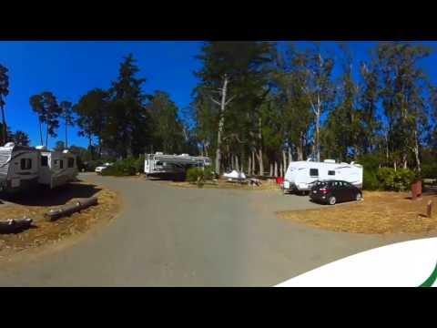 Morro Bay State Park Campground Morro Bay California CA 360 VR 4K