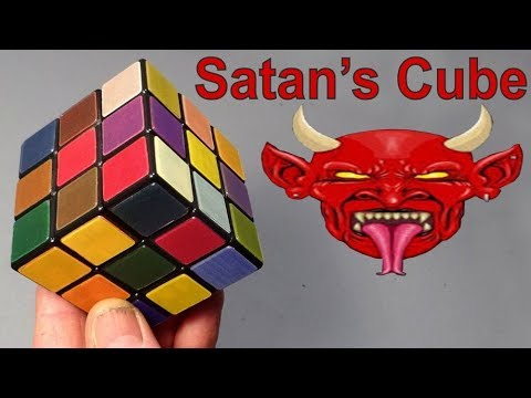 Satans Rubiks Cube puzzle pure evil from Olivérs Stickers & Greg