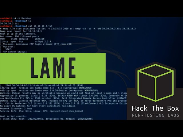 HackTheBox - Lame - Walkthrough