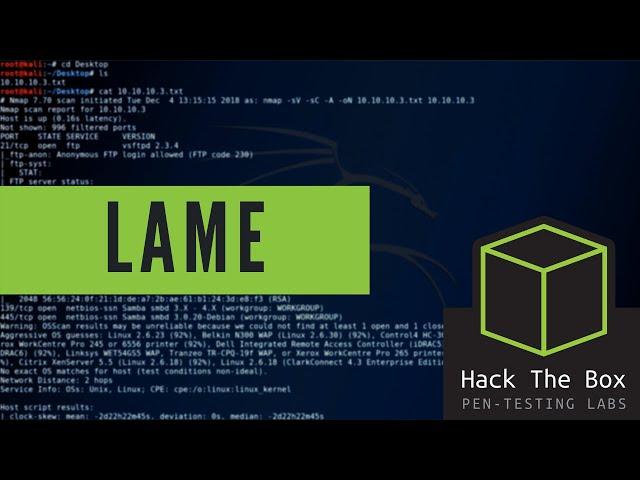HackTheBox - Lame - Walkthrough