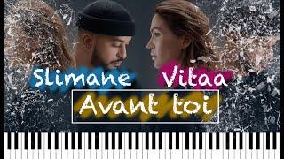Slimane et Vitaa - Avant toi piano instrumentale