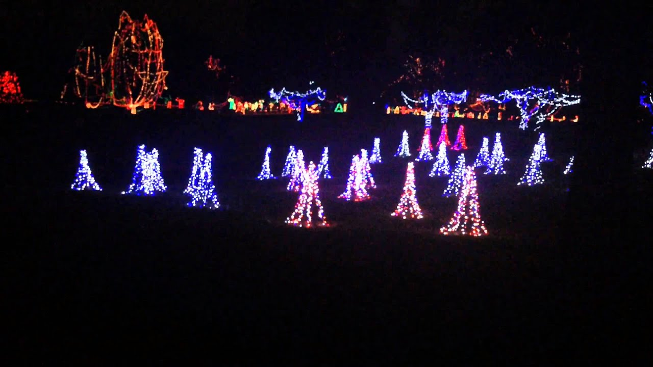 Holiday lights walk through. 2015 tillis park - YouTube