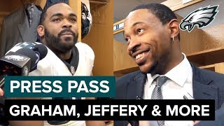 Brandon Graham, Alshon Jeffery & More React to Close Playoff Win | Eagles Press Pass Compilation