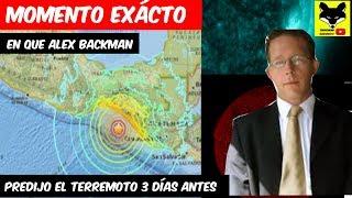 Momento Exacto en que Alexander Backman predijo el terremoto en México 3 dias antes de que ocurriera