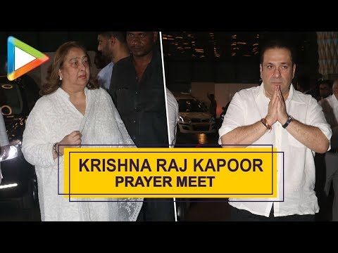 Late Krishna Raj Kapoor's Prayer Meet   Amitabh Bachchan, Rekha, Madhuri Dixit & others   Part 2