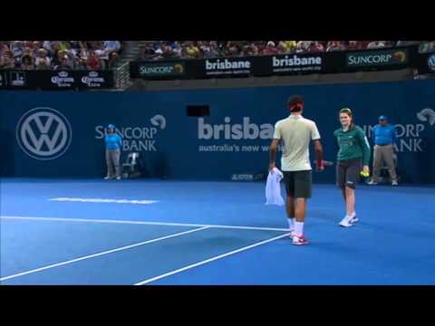 Roger Federer v Jarkko Nieminen - Full Match Men's Singles Round 2: Brisbane International 2014