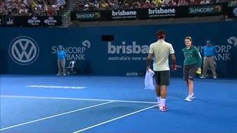 Roger Federer v Jarkko Nieminen - Full Match Men's Singles Round 2: Brisbane International 2014