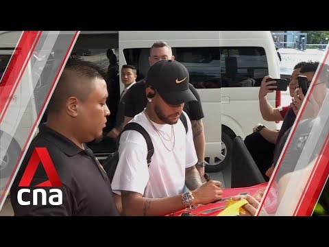 Brazil football stars Neymar and co arrive in Singapore for Senegal and Nigeria friendlies