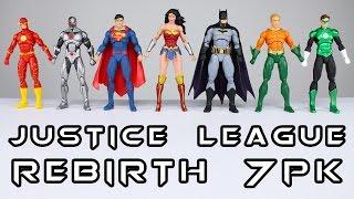 Значки постійного струму правосуддя відродження ліги 7 з пакетом фігурки огляд іграшки