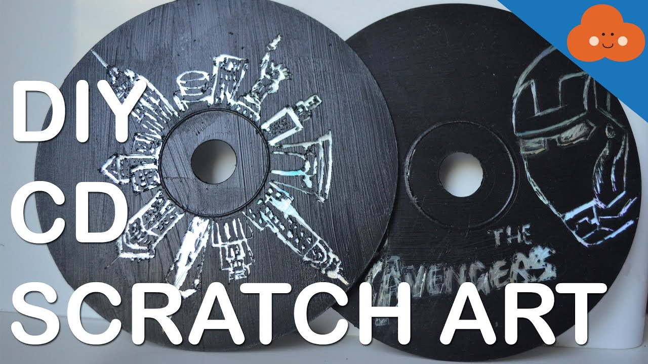 Diy cd scratch art youtube for Classic house cd