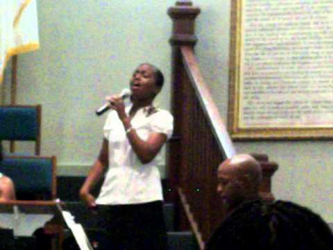 "April Winfrey: At a Wedding Singing ""I Found Love"" by BeBe Winans"