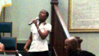 April Winfrey At A Wedding Singing 34 I Found Love 34 By Bebe Winans