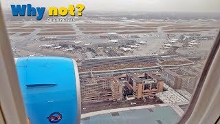 Обзор огромного аэропорта во Франкфурте на Майне при посадке. Landing Frankfurt am Main Boeing 767