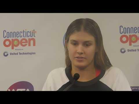 Eugenie Bouchard talks about her Super Bowl Date