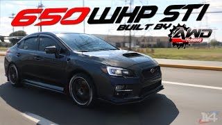 2015 Subaru WRX STI Fully Built by AwdTuning Review BOOSTED 650 WHEEL HORSEPOWER STI RULES STREETS