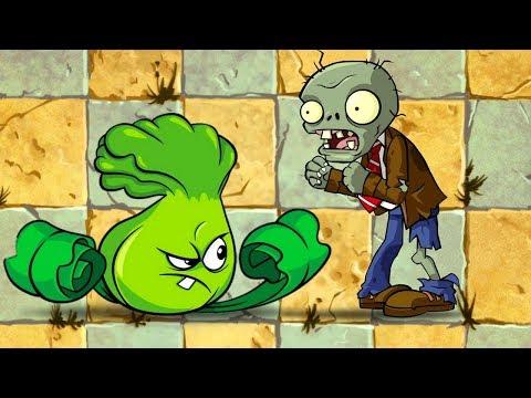 Plants vs Zombies Boxer Bonk Choy Level 1 vs Level 9 Challenge Plantas Contra Zombies 2