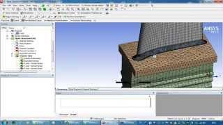 Видеоурок CADFEM VL1416 - Работоспособность лопатки при наличии трещины с учетом пластичности