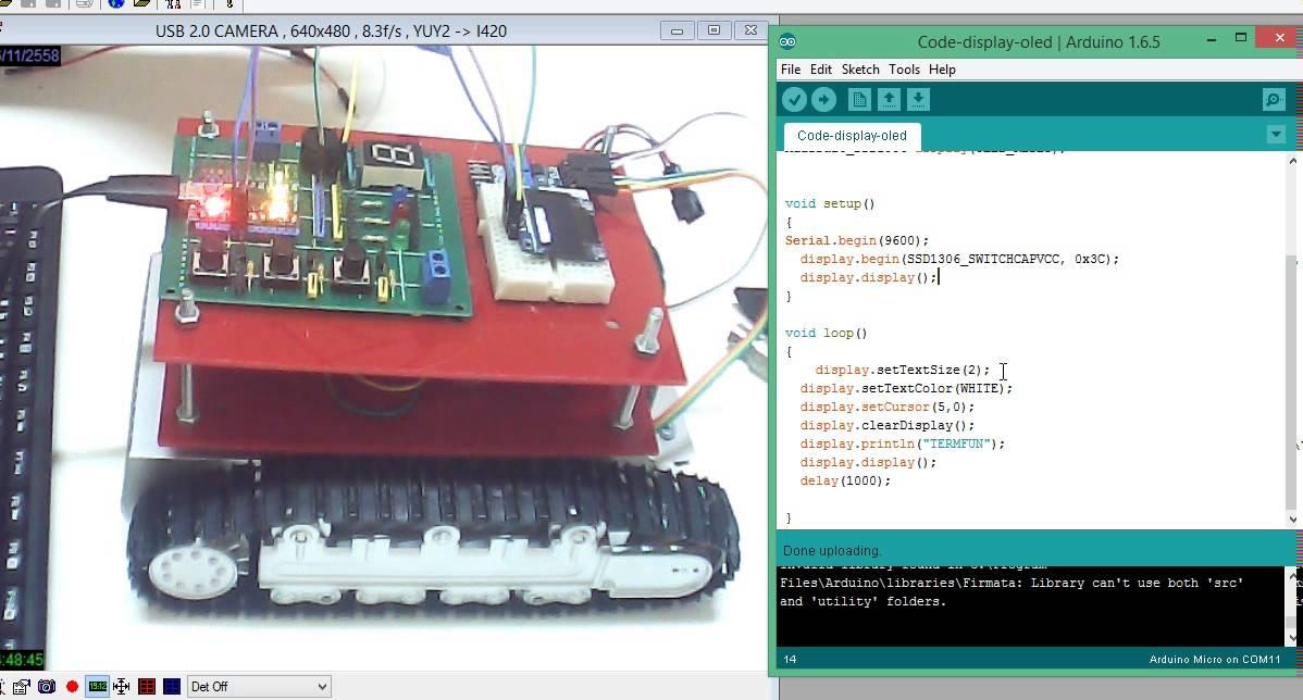 สอนหุ่นยนต์ arduino สั่งงานจอoled p by ค่ายหุ่นยนต์