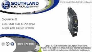 square d edb14020 20 amp 227 volt 1 pole circuit breaker