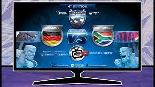 Deutschland vs Südafrika Weltmeisterschaft in Clash of Clans live | Tägliche Streams [36/365]