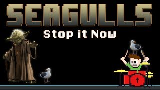 SEAGULLS [Stop It Now] - Bad Lip Reading (Blind Drum Cover) -- The8BitDrummer