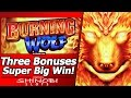 Burning Wolf Slot - Super Big Win!  Live Play with Three Free Spins Bonuses