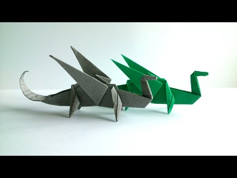 Origami Dragon Tutorial - Paper Dragon Instructions