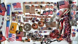 Моя коллекция украшений, флаги США. Обзор подарков. Patriotic jewelry