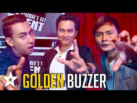 Card Magician Gets GOLDEN BUZZER on Myanmar's Got Talent | Got Talent Global