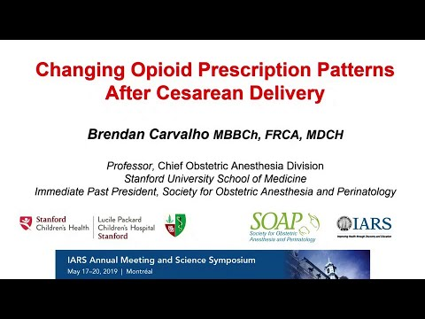 Changing Opioid Prescription Patterns After Cesarean Delivery