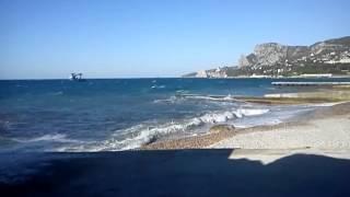 Черное море , Симеиз , шторм .