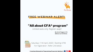 All about CFA® program