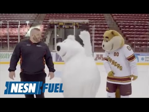 White Bear Mitsubishi Mascot Keeps Falling In Ad Outtakes
