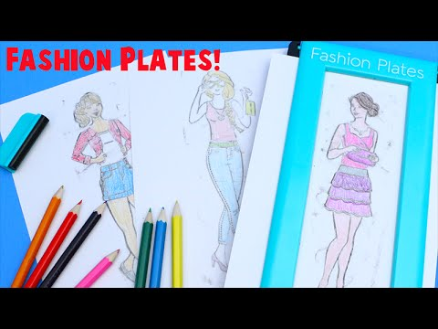 Fashion Plates Deluxe Set Kids Drawing Set Youtube