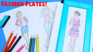 Fashion Plates Deluxe Set Kids Drawing Set