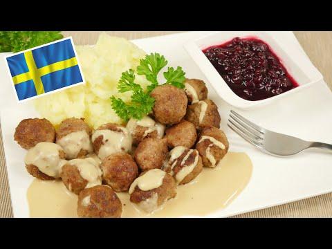 Köttbullar Rezept - Schwedische Hackbällchen mit Sahnesauce