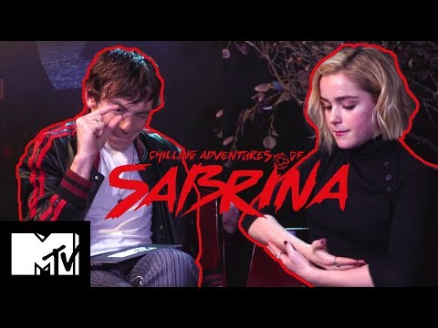The Chilling Adventures Of Sabrina Cast Play Teen TV Show Charades & Talk Riverdale | MTV Movies