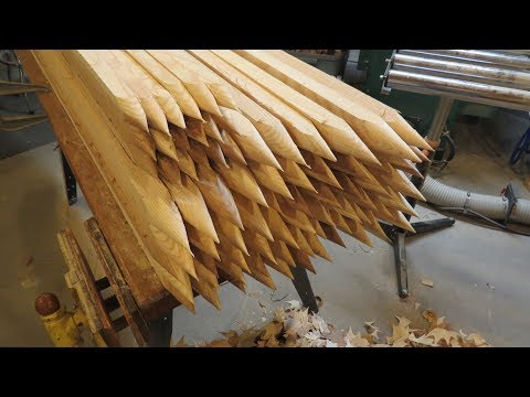 Making A Batch Of Ash Garden Stakes
