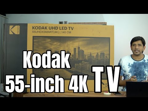 Kodak 55 Inch XSMART UHD TV Unboxing, Setup, Best Features - 4K Android TV On A Budget
