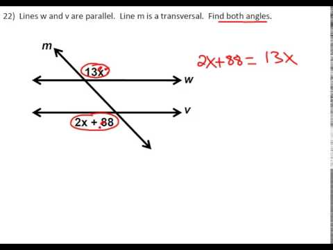 Finding Angles In Parallel Lines With Expressions Youtube
