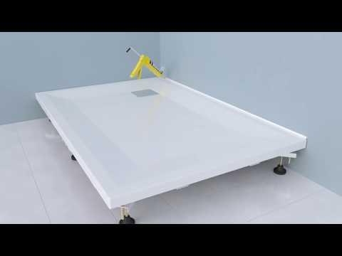 VitrA Flat Duş Teknesi (Ayaklı ve Panelli) Montajı